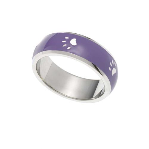 Purple Paw Print Ring Rings 23 Joyful Sentiments