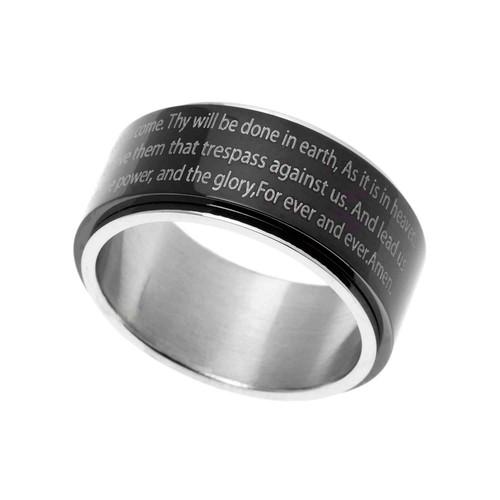 Lord's Prayer Spinner Ring