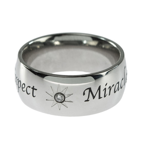 Joyful Sentiments Religious Jewelry Stainless Steel Pierced Cross Ring
