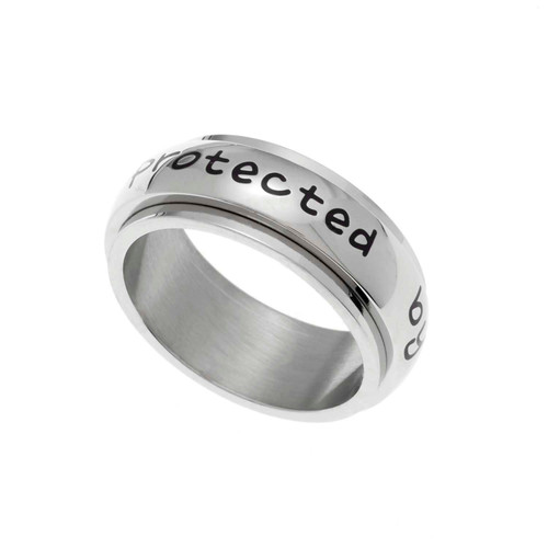 Protected By An Angel Spinner Ring
