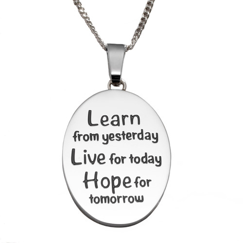 Learn Live Hope Pendant Necklace