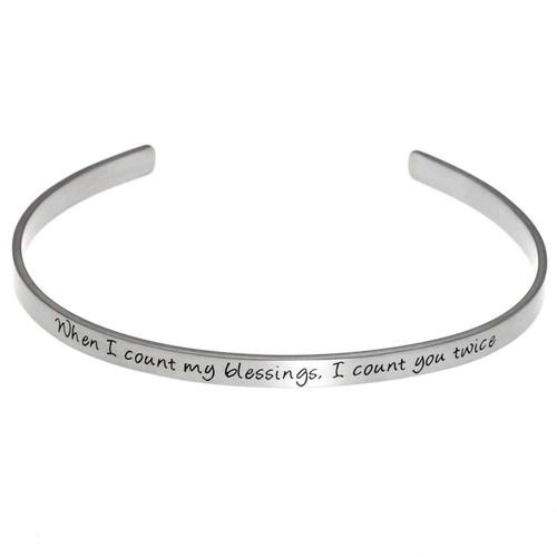 Count My Blessings Cuff Bracelet Bracelets 10 Joyful Sentiments