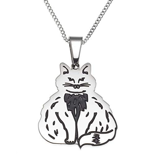 Fluffy Cat Pendant Necklace