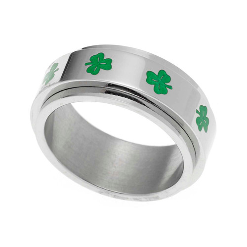 Shamrock Spinner Ring