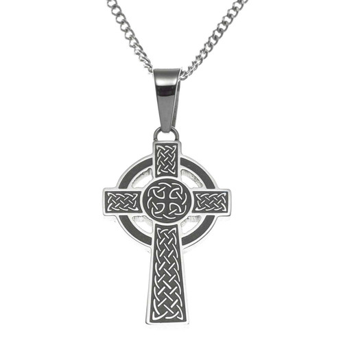 Celtic Cross with Nimbus Pendant Necklace
