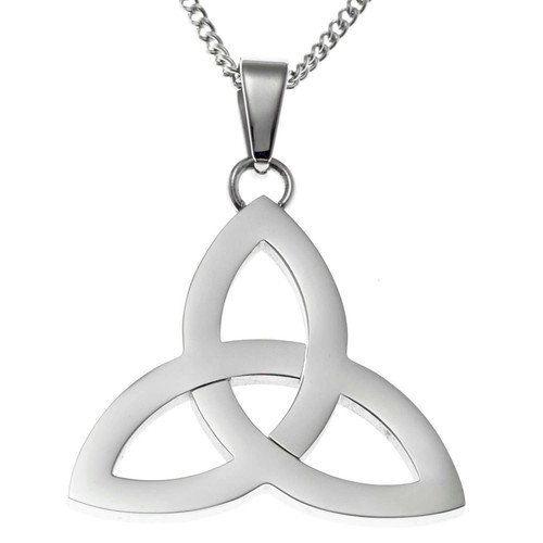 Polished Trinity Knot Pendant Necklace