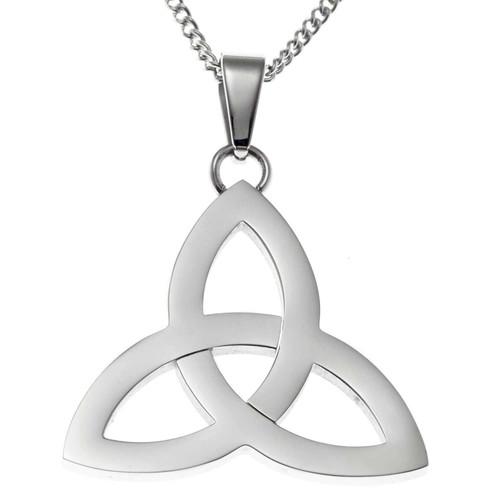 Polished Trinity Knot Pendant Necklace