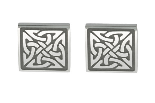 Square Trinity Knot Earrings