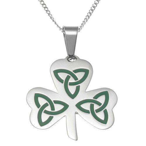Trinity Knot Shamrock Pendant Necklace