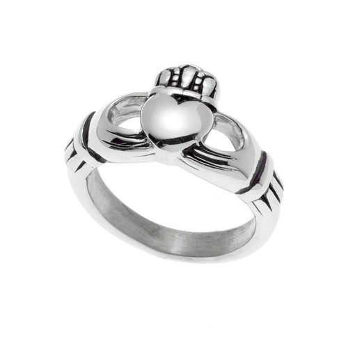 Small Silver Claddagh Ring