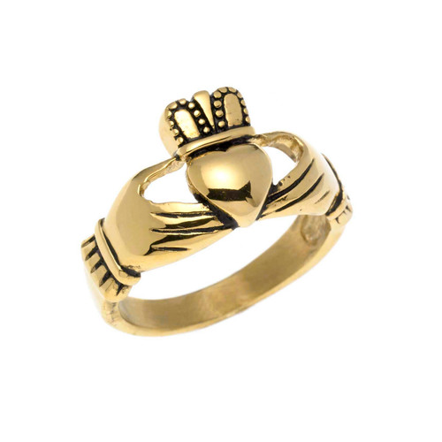 Small Gold Claddagh Ring