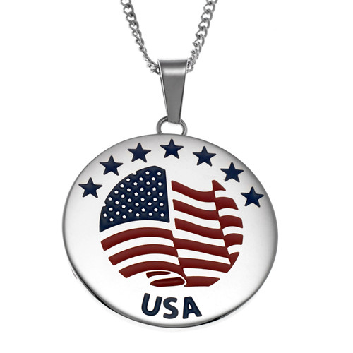 Star And Flag Pendant Necklace