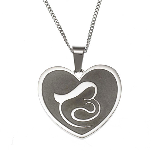 Mother and Baby Pendant Necklace
