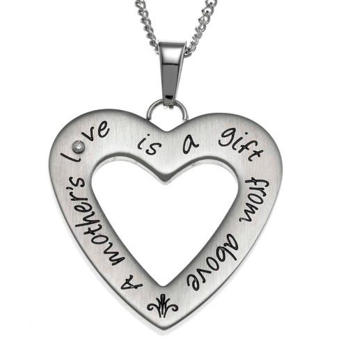 Open Heart Mother's Love Pendant Necklace