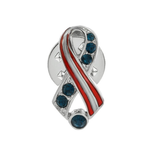 Red, White, And Blue Ribbon Pin