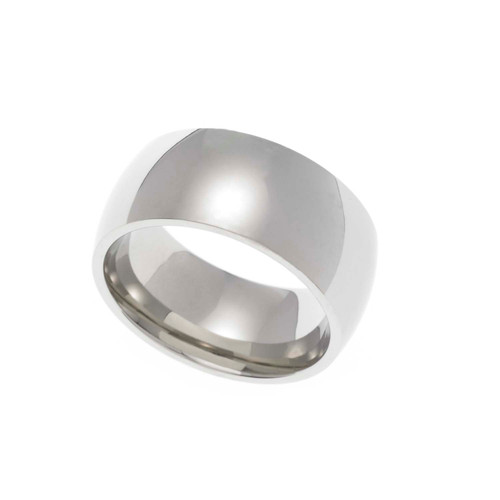 9MM Polished Stainless Steel Dome Wedding Band