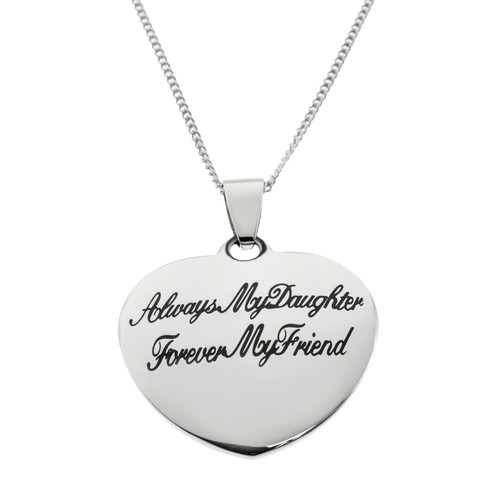 Heart Shaped Always My Daughter Pendant Necklace