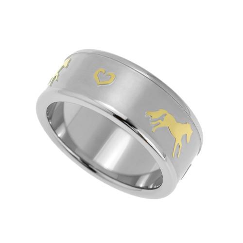 Horse Sandblasted Ring