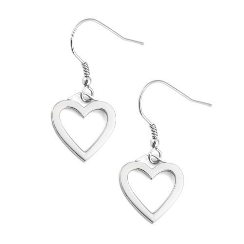 Heart-Dangle-Fish-Hook-Earrings