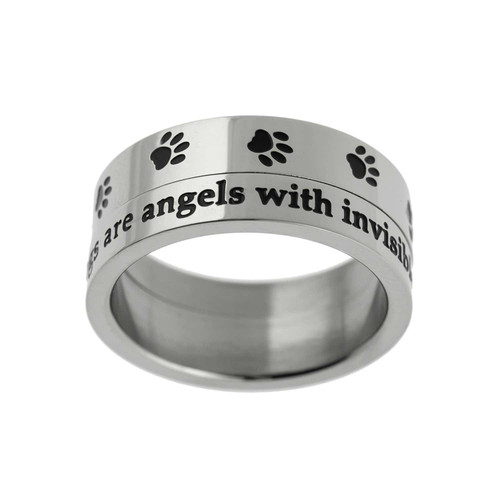 Dogs Are Angels Spinner Ring Rings 19 Joyful Sentiments