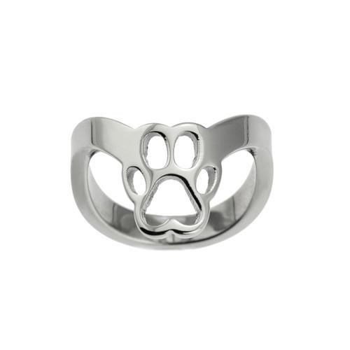 Paw Print Thumb Ring