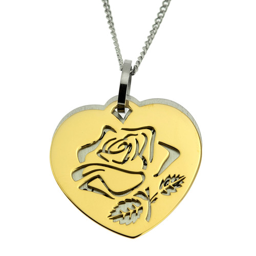 How-Much-I-Love-You-Gold-Rose-Double-Pendant-Necklace