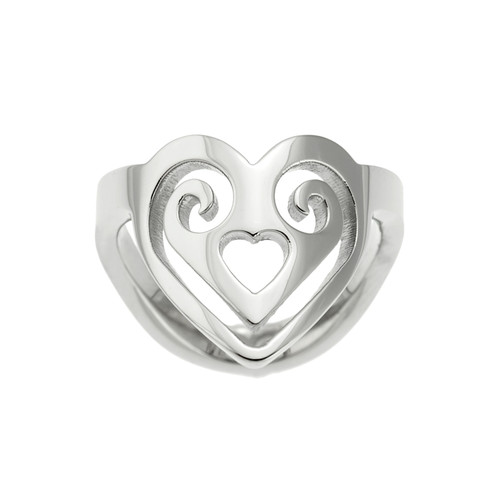Heart-Shaped-Scroll-Thumb-Ring