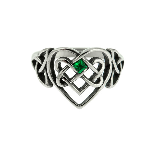 celtic-heart-infinity-knot-trinity-knot-emeral-stone-ring