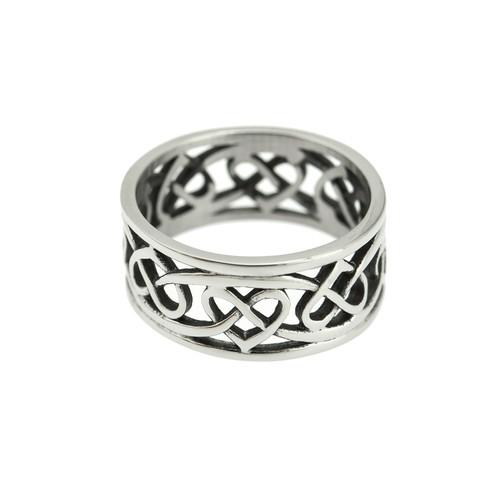 Trinity-knot-open-heart-ring