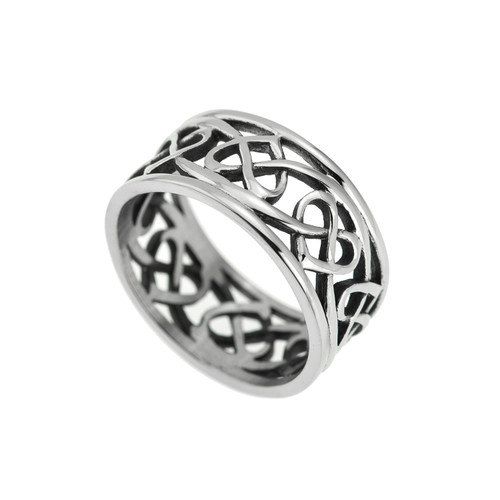 Trinity-knot-open-heart-ring