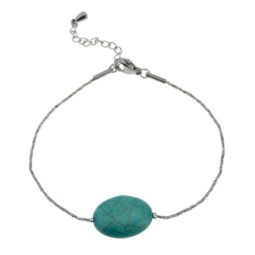stainless-steel-turquoise-genuine-stone-bracelet