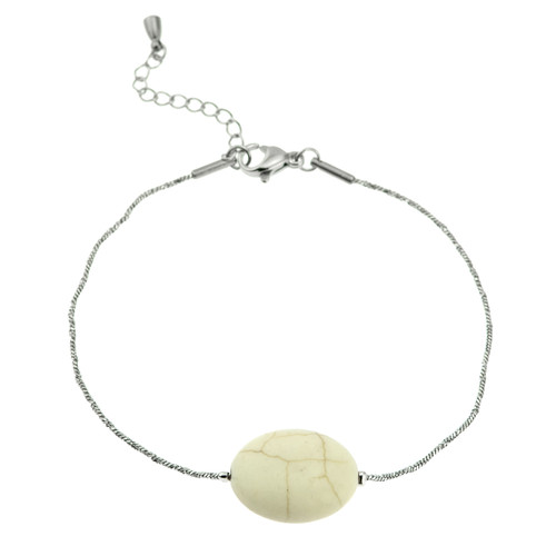 stainless-steel-white-howlite-genuine-stone-bracelet