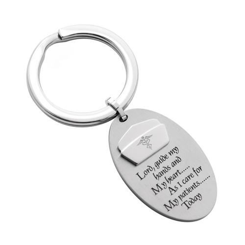 Oval-Nurse's-Prayer-Key-Ring