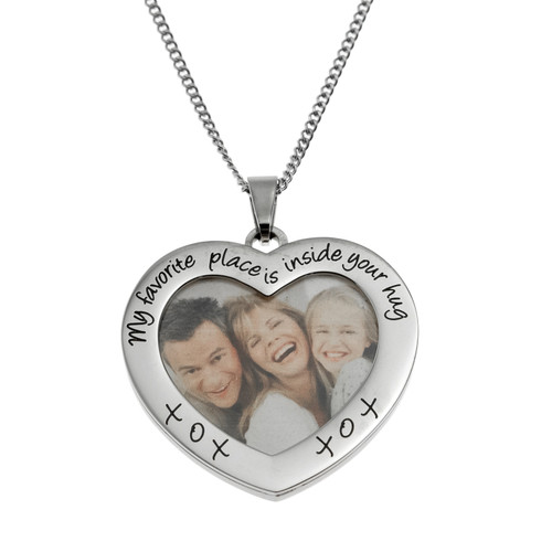 My Favorite Place Picture Frame Pendant Necklace