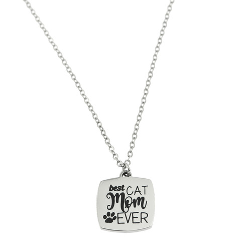 Best Cat Mom Pendant Necklace