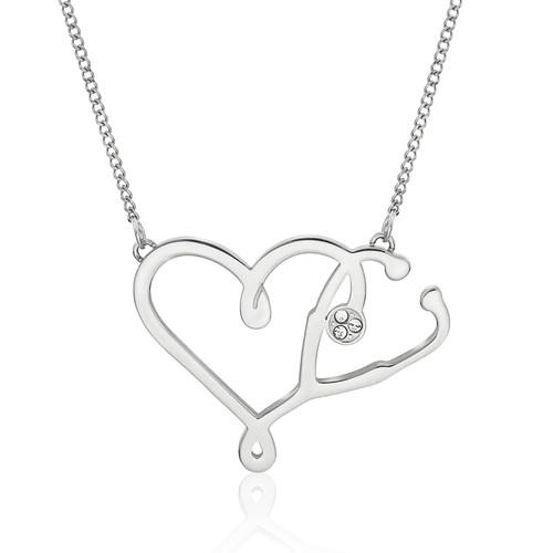 necklace-nurse jewelry-stethoscope jewelry-medical jewelry