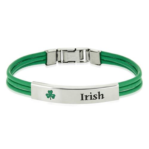 bracelet-irish bracelet-celitic jewelry-green irish jewelry
