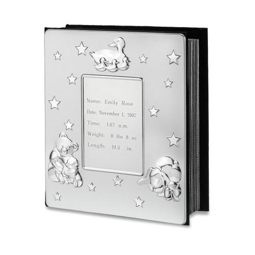 silver-baby-photo-album