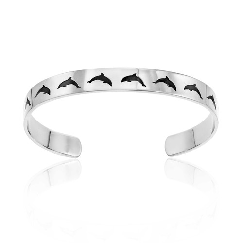 Peace Dolphin Cuff Bracelet Bracelets 25 Joyful Sentiments