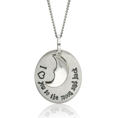 I Heart You To The Moon And Back Pendant Necklace Joyful Sentiments