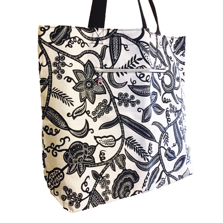 Black and White Large Reversible Tote