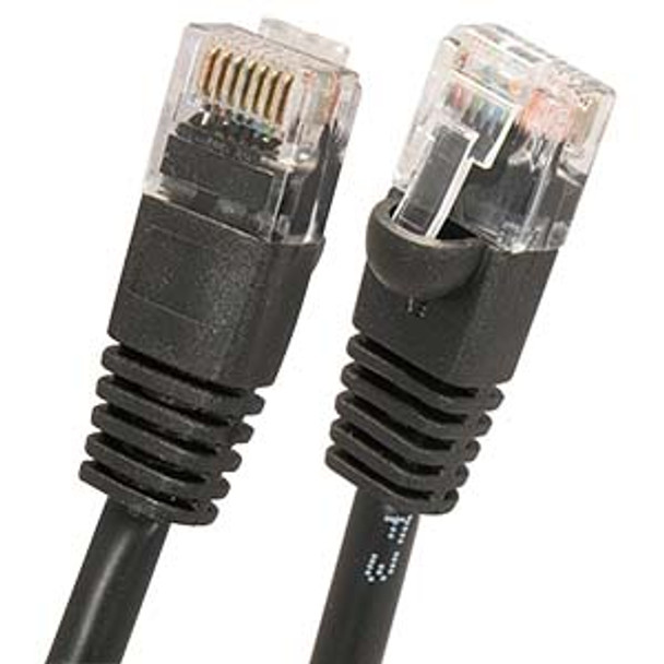 2Ft Cat6 UTP Ethernet Network Booted Cable Black