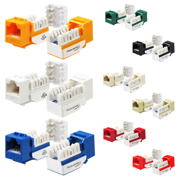 CAT6 KEYSTONE COUPLER, SINGLE PACK White