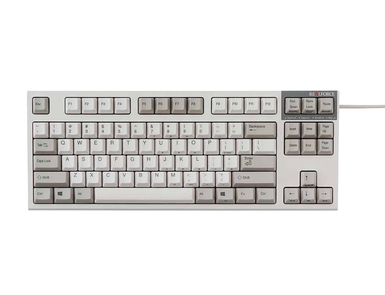26045cd5499 REALFORCE R2 PFU LIMITED EDITION KEYBOARD MID SIZE (IVORY) 45g KEY WEIGHT