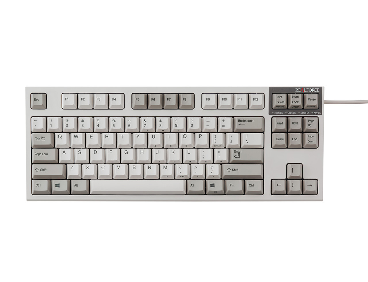 REALFORCE R2 KEYBOARD MID SIZE IVORY 55g KEY WEIGHT
