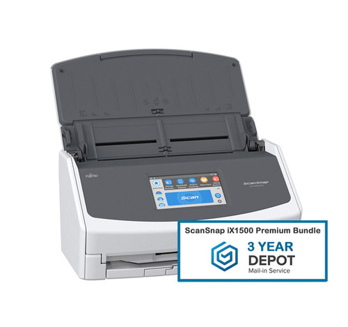 SCANSNAP iX1500 PREMIUM BUNDLE SCANNER WITH 3-YEAR DEPOT WARRANTY
