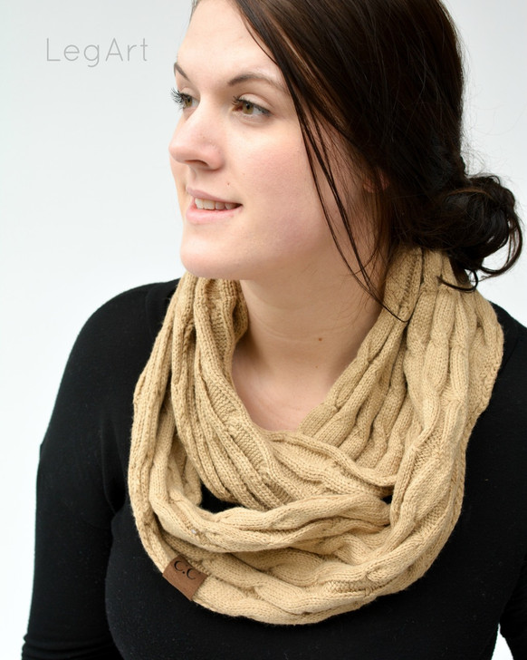 Classic Knit Scarf Beige