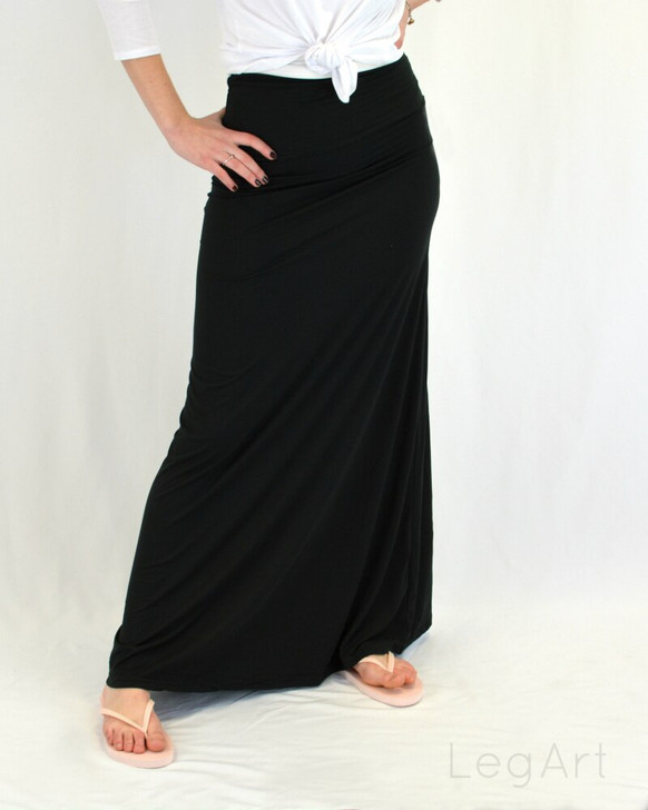 Solid Colour Maxi Skirt