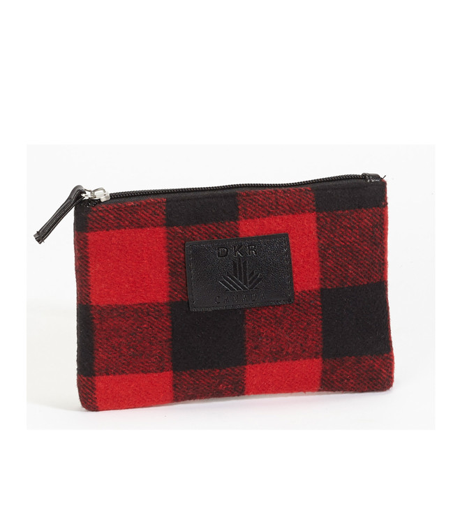 Buffalo Check Zipper Pouch