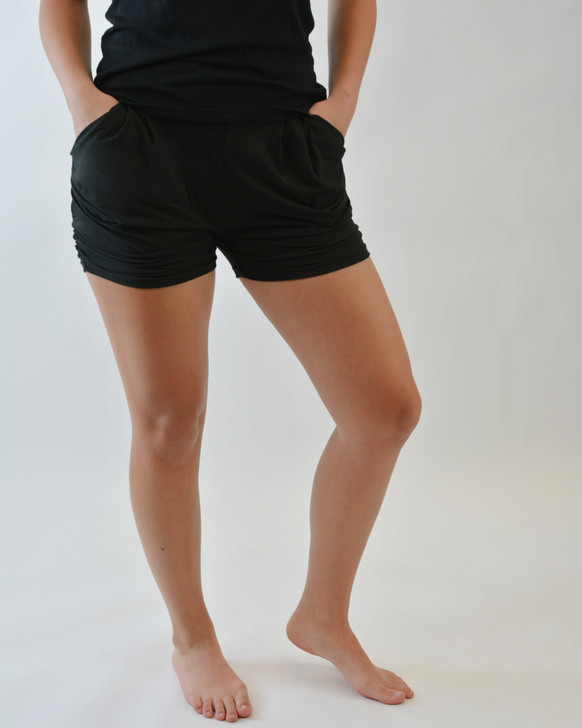 Solid Fitted Shorts